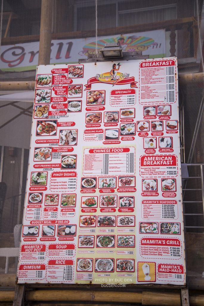Ẩm thực Boracay có thể tóm tắt qua tấm Menu này! Món gì cũng có :)) - Kinh nghiệm du lịch Boracay của Đức Đen
