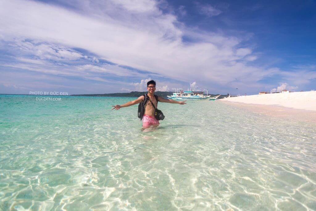 Biển Puka xanh khác hẳn so với phần còn lại của Boracay - Kinh nghiệm du lịch Boracay của Đức Đen