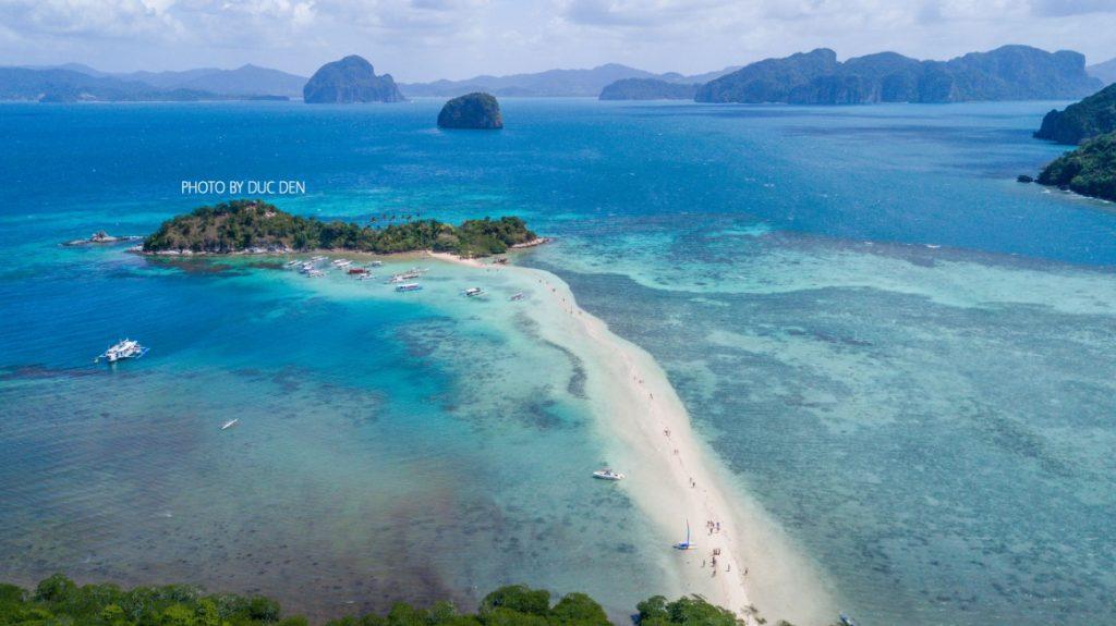 Một bức ảnh toàn cảnh rõ nhất về Snake Island từ trên cao | Kinh nghiệm đi El Nido Palawan