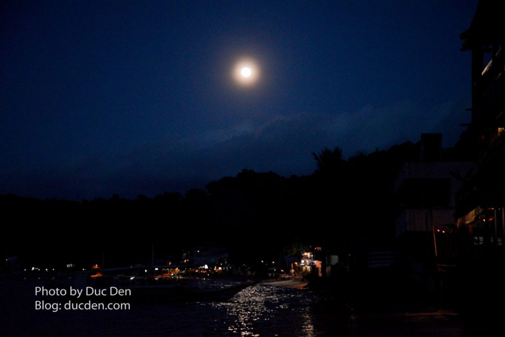 Thị trấn El Nido khi trăng tròn bắt đầu lên | Du lịch El Nido