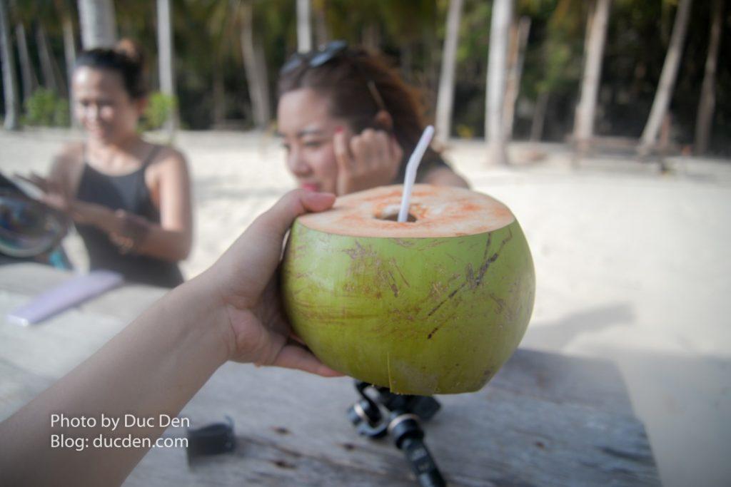 Trái dừa to vật vã mà cũng rẻ ở đảo Seven Commandos