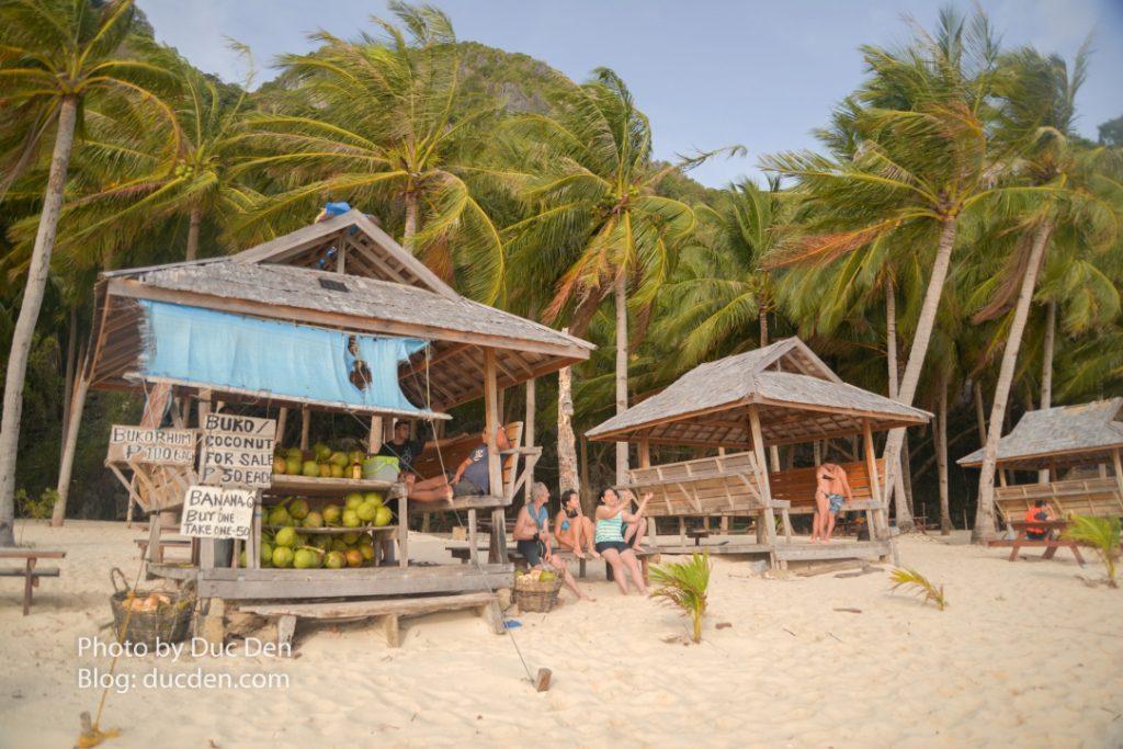 Quán nước giải khát trên đảo Seven Commandos | Kinh nghiệm du lịch El nido tự túc