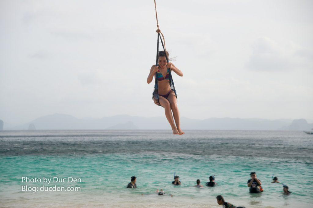 Đu dây trên đảo Seven Commandos | Du lịch El Nido tự túc