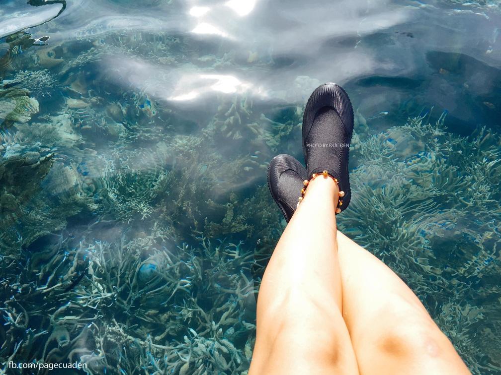 Nước trong vắt luôn, bên dưới thì san hô mê hoặc lòng người. Thực sự ghen tị với Philippines