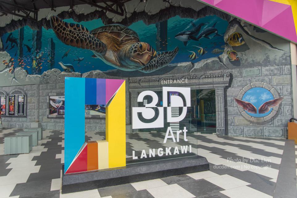 Bảo tàng nghệ thuật 3D ở chân núi có Langkawi Sky Bridge
