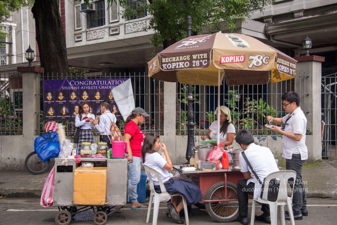 Một góc street food ở Manila - Có gì đó giống Việt Nam?